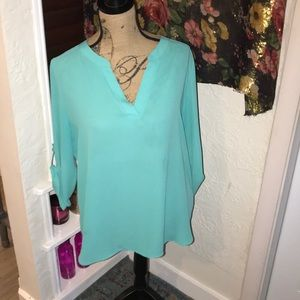 Aqua blue blouse